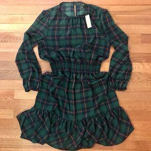 J Crew Plaid Dress NWT Tartan Plaid Print Small❤️